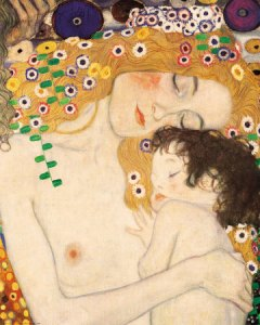 klimt-gustav-mother-and-child-detail-from-the-three-ages-of-woman-c-1905